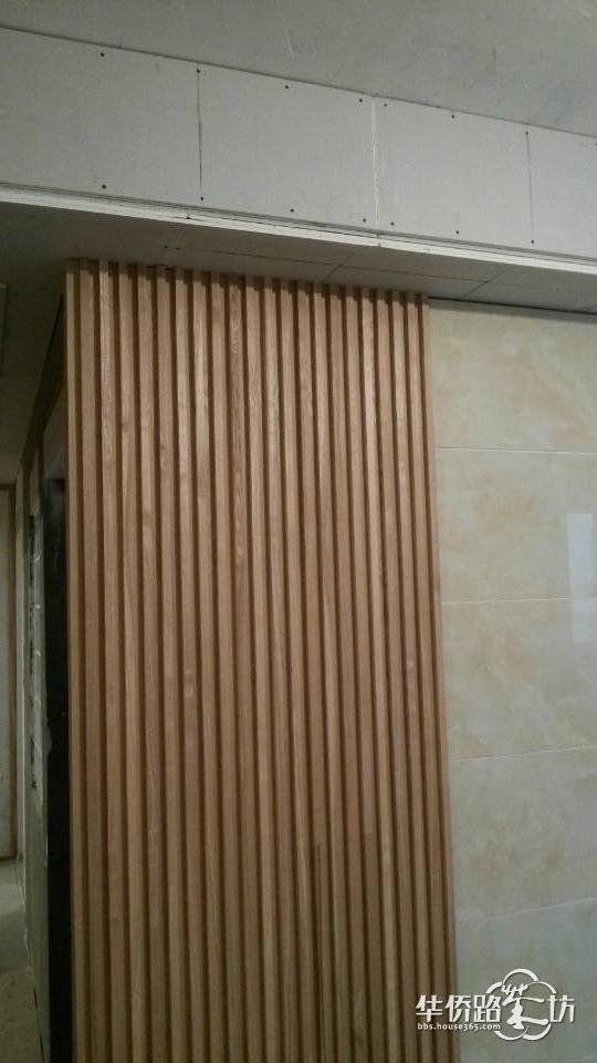 电视背景墙的木条纹设计