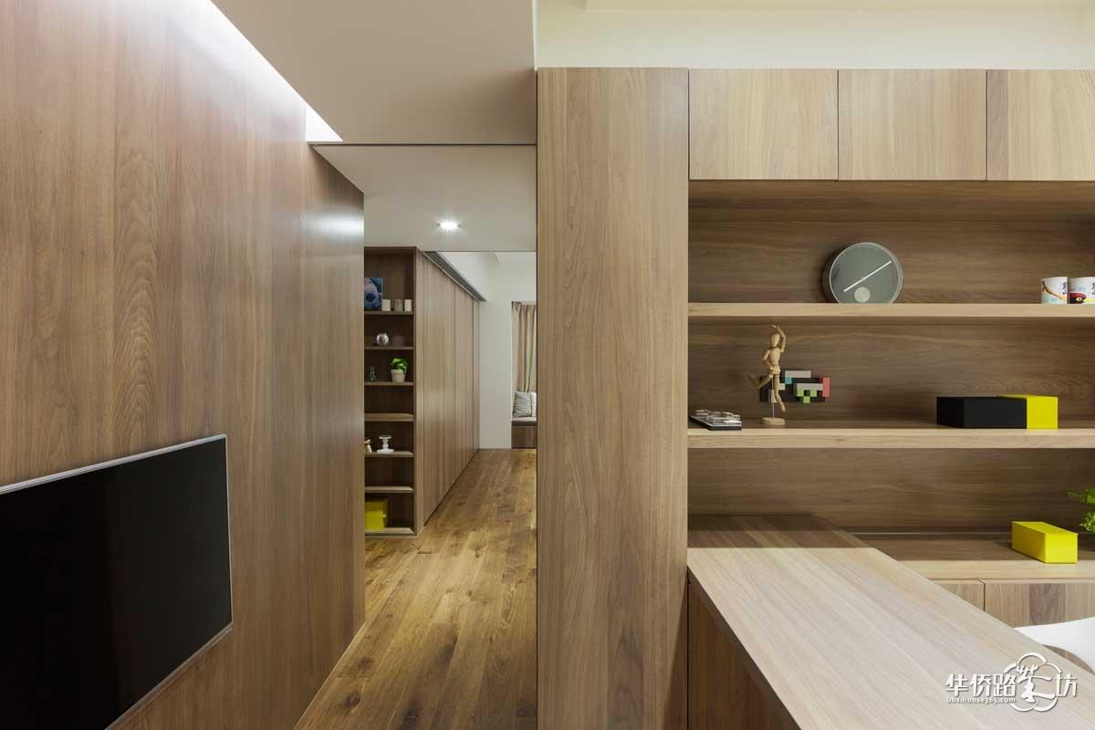 【冠全支招】臺灣大氣簡約木飾面運用家居設計案例圖片