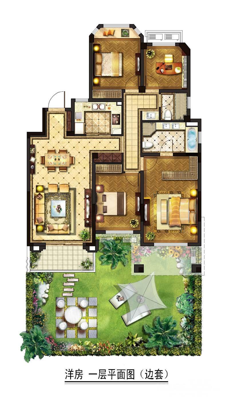 满堂红独家奥南金地自在城五期褐石花园洋房一楼带100平米院子图片