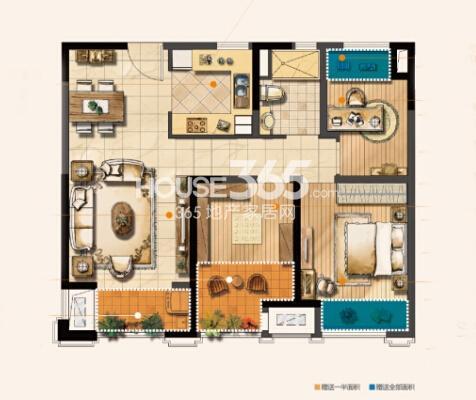无锡圆融广场C户型89平2+1房户型图