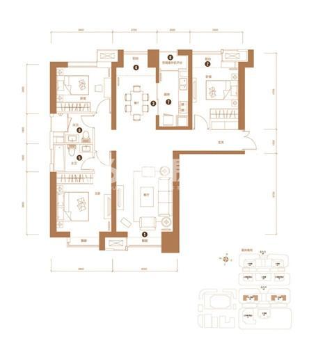 3室2厅1卫 126平米(售完)