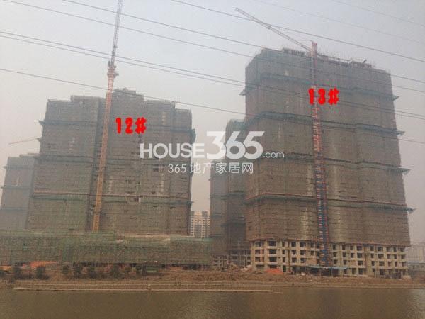 世茂香槟湖11、13#工程进度(2015.2)