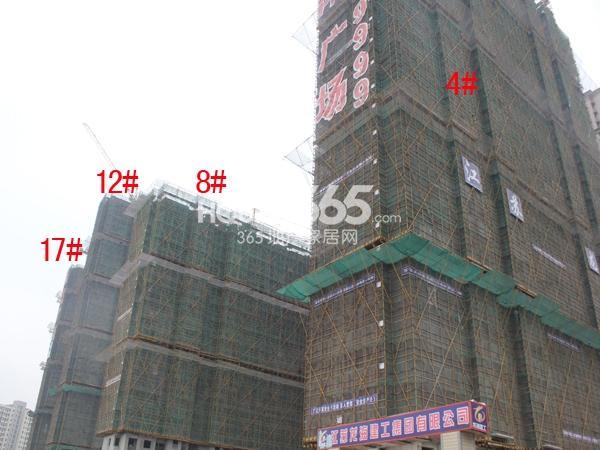弘阳广场4#、8#、12#、17#楼工程进度图(2015.3)