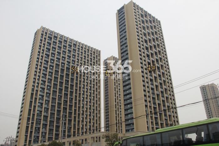 2015年3月底中天官河锦庭项目实景--4、5、6号楼