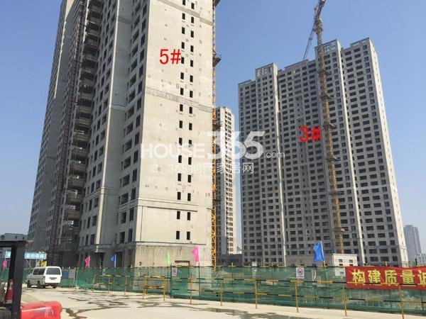朗诗�园3#、5#楼工程进度(2015.4)