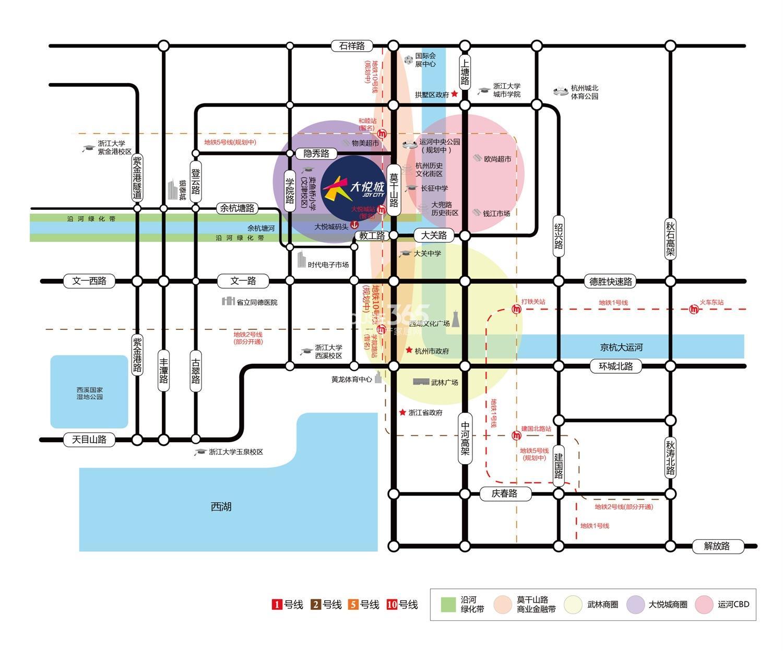 杭州中粮大悦城交通图