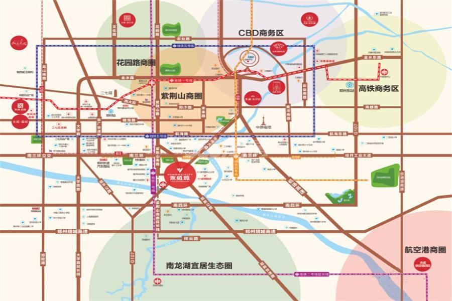 永威城交通图