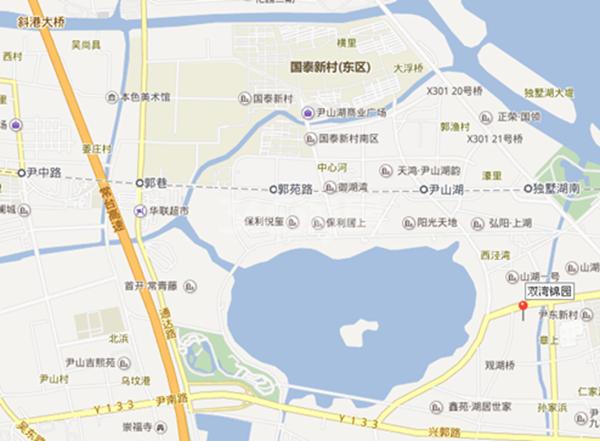 中海双湾锦园交通图