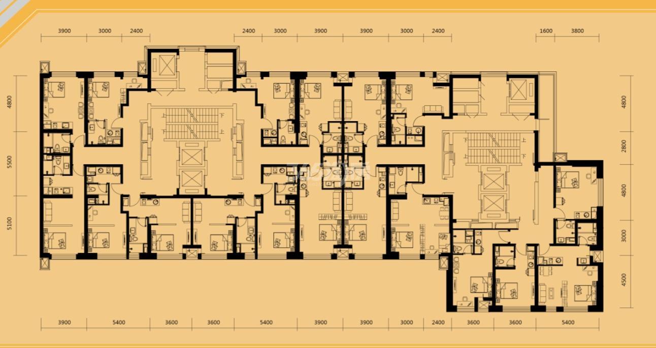 A5公寓户型平面图34-55㎡