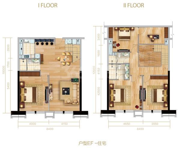 户型EF-住宅