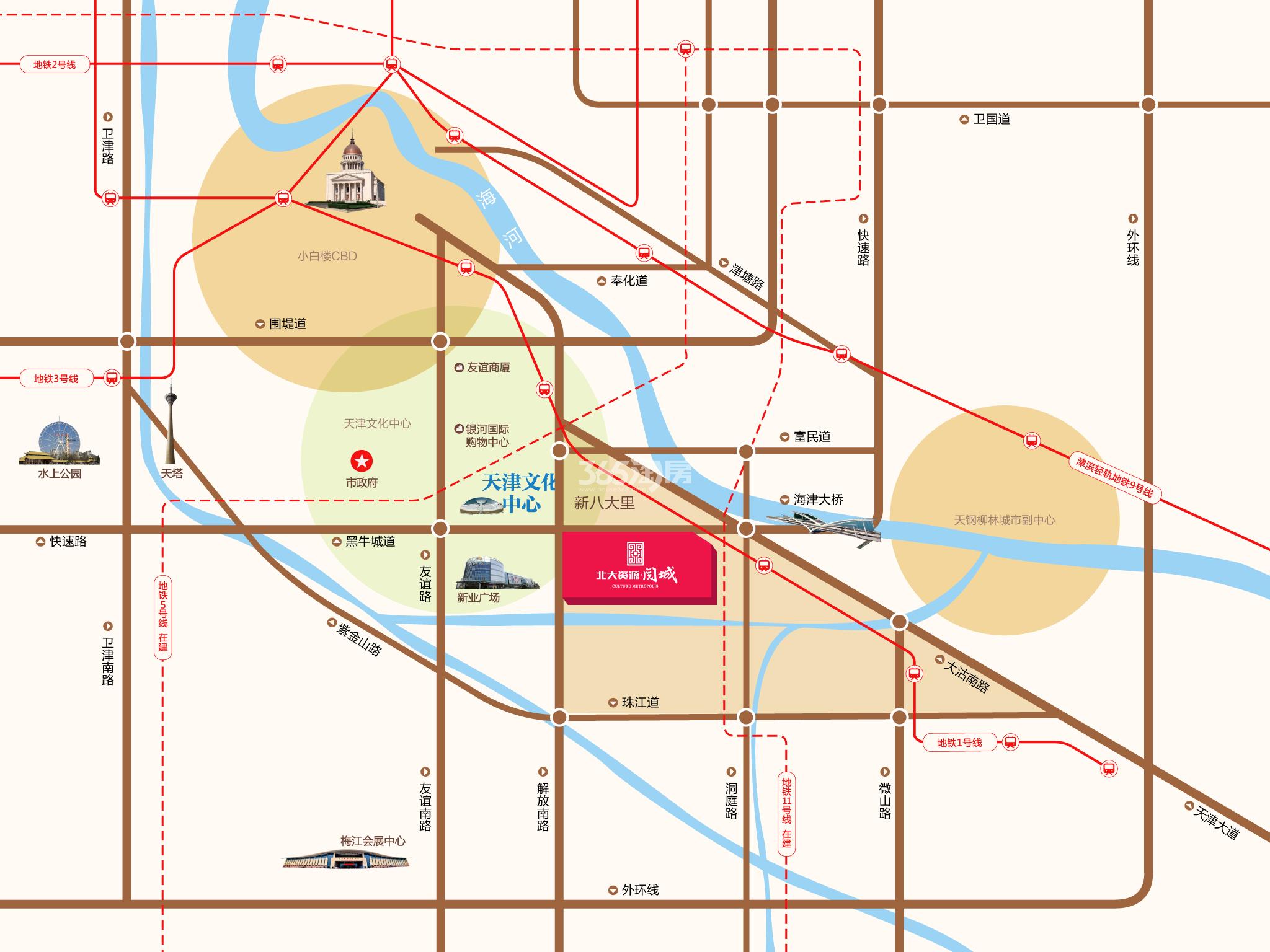 北大资源阅城交通图