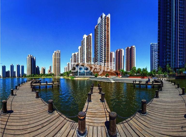 富力津门湖二期实景图