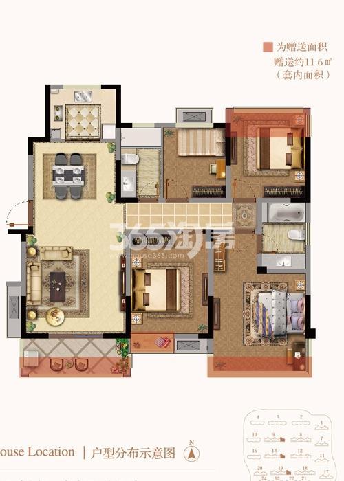 银亿东城9街区新洋房E1户型图