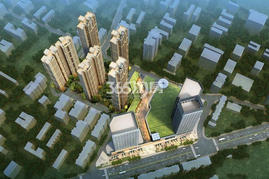 汉口新界广场鸟瞰图