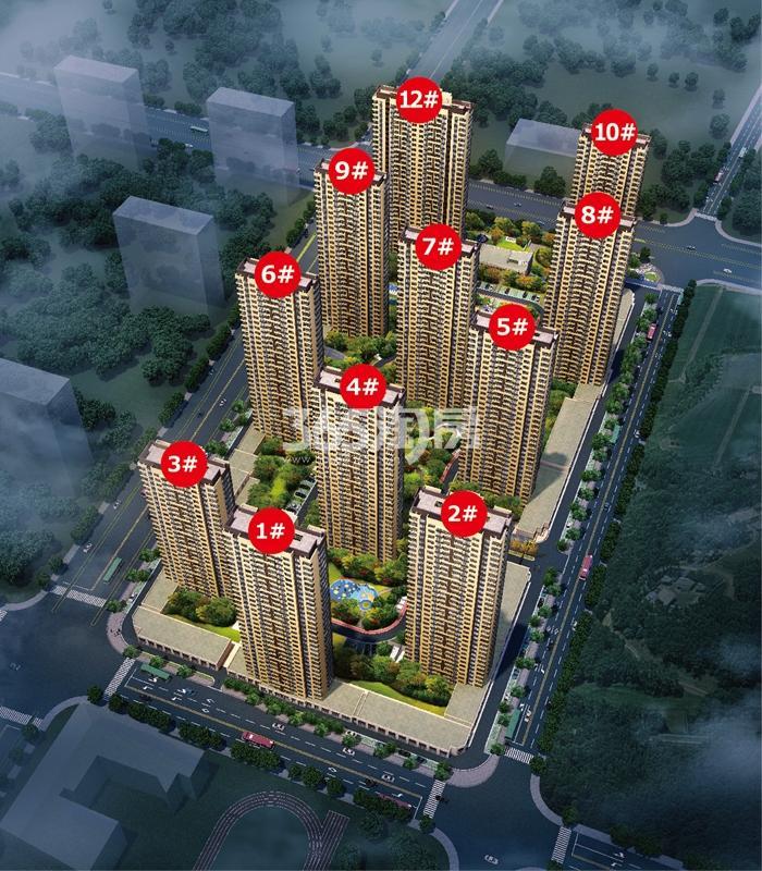 中国铁建保利像素效果图