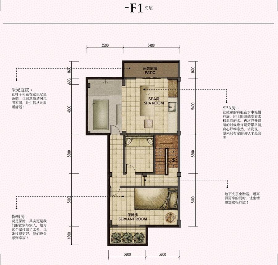 柏庄丽城约279平L2户型图-F1夹层