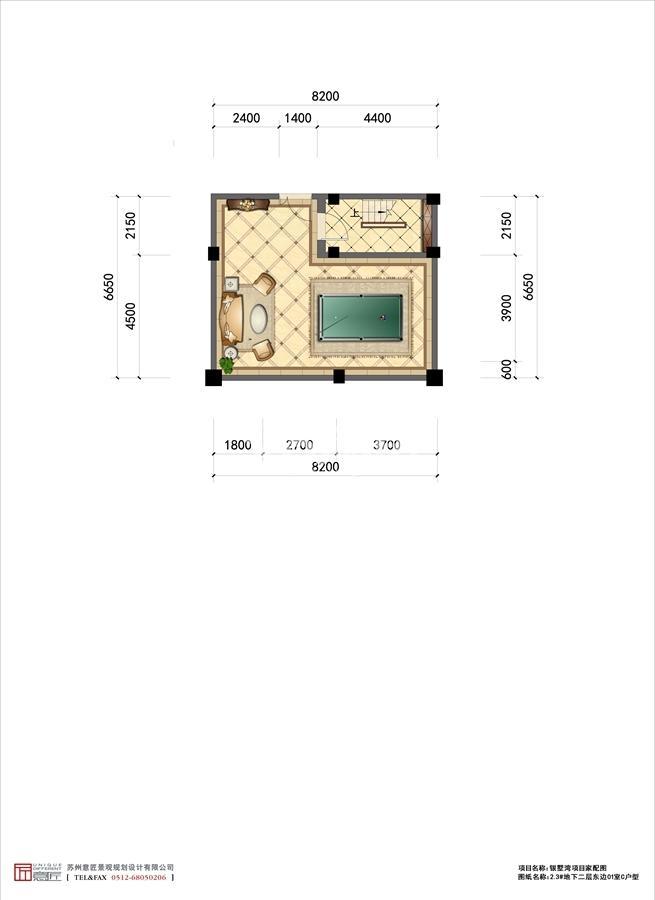 C户型2.3#地下二层东边01室