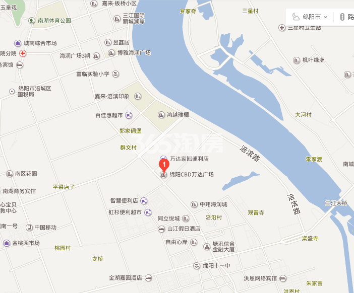 CBD万达广场·写字楼交通图