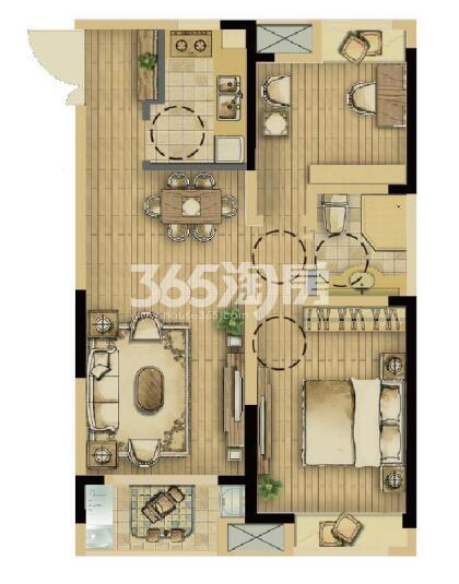 耘林生命公寓二期90平带装修户型