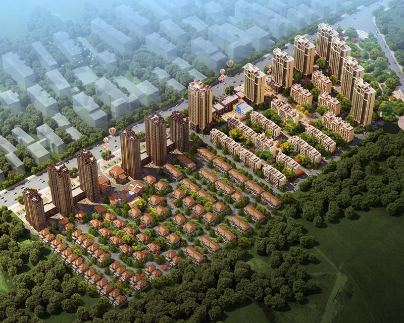 前城紫荆庄园鸟瞰图
