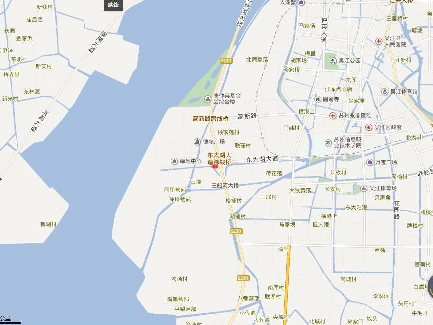 绿地太湖东岸交通图