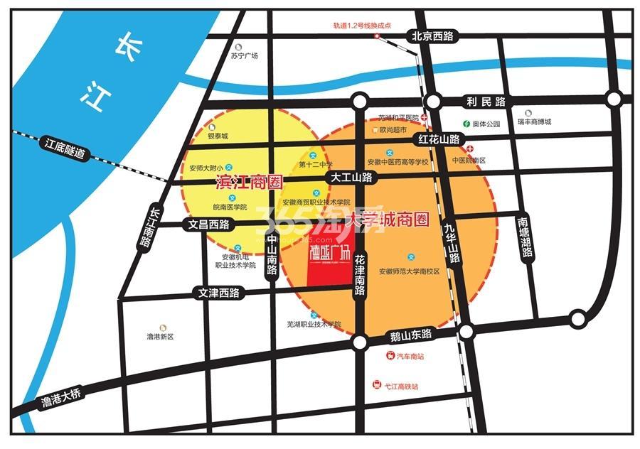德盛广场交通图