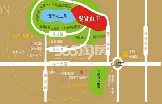 聚贤山庄交通图