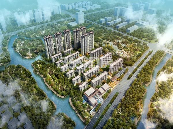 中洲·花溪地鸟瞰图