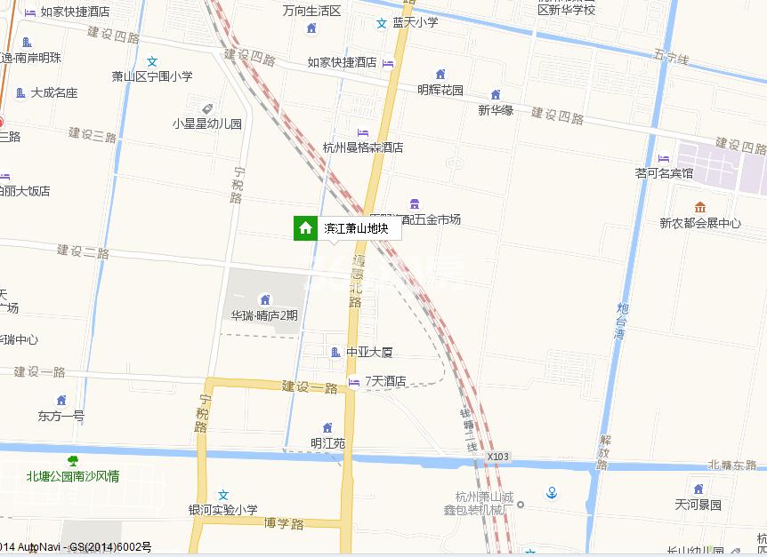 滨江江南名府交通图