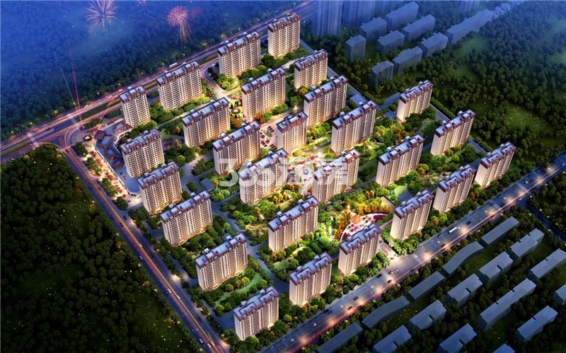 碧桂园奥能罗马世纪城儒林境夜景效果图