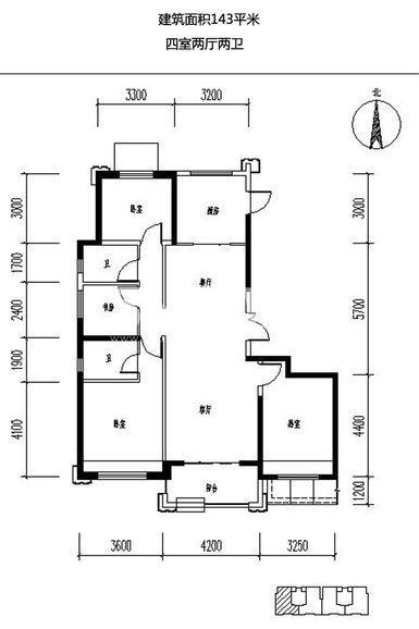 保利天悦4室2厅2卫1厨143.00㎡