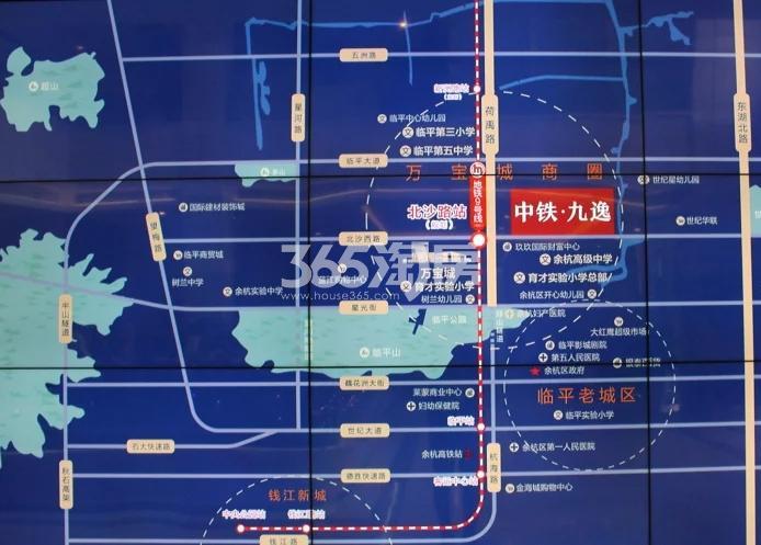 中铁九逸交通图