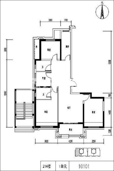 保利天悦4室2厅2卫1厨129.00㎡