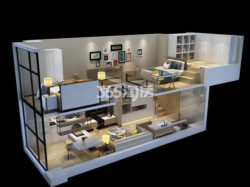 中骏六号街区40㎡模拟图