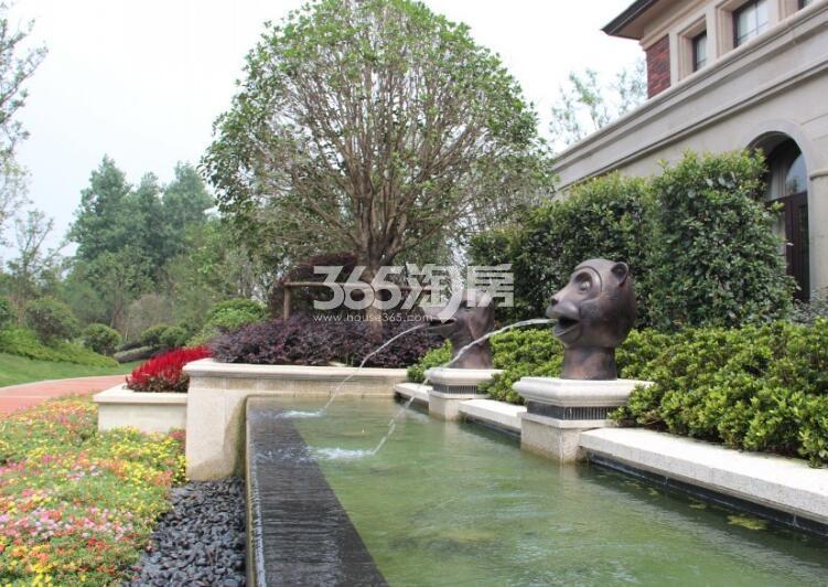 保利西山林语小区喷泉实景(2017.9.8)