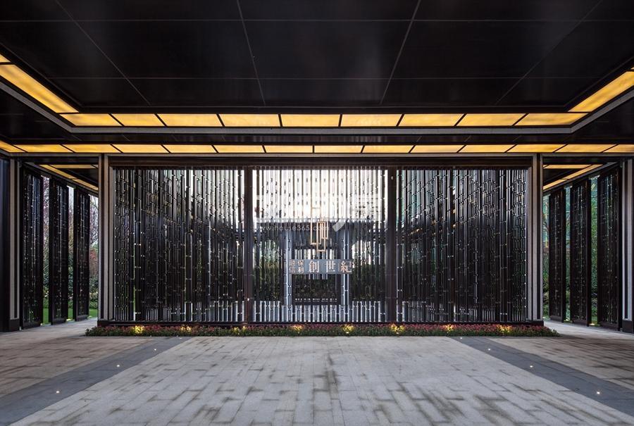 融信保利创世纪售楼处外景实景图 2017年9月摄