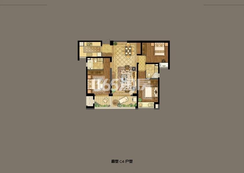 深业滨江半岛2号楼B2户型138.07㎡