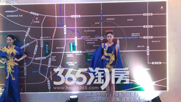 安建翰林天筑品牌发布会区域图实景图(2017.10.10)