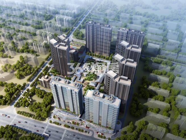 万科大明宫项目鸟瞰图