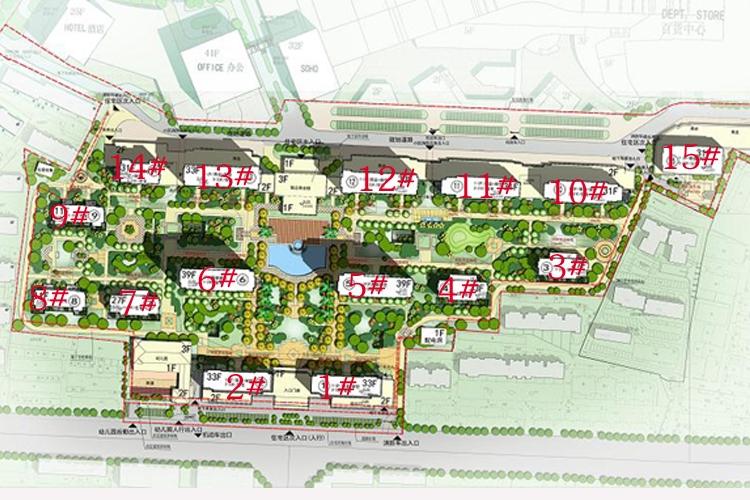 信地城市广场鸟瞰图