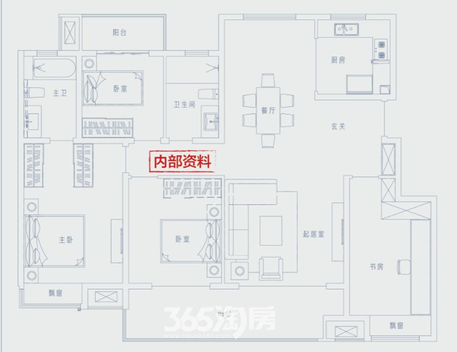 万科江东府洋房约143平户型图