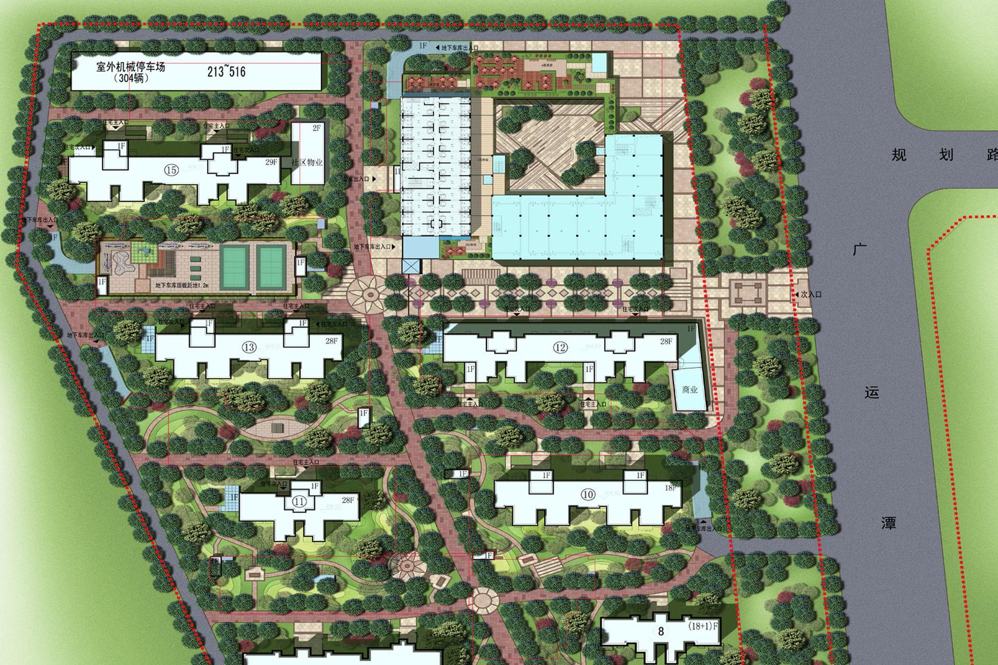 西岸国际花园项目鸟瞰图
