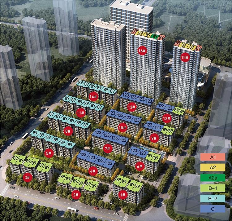 晓春城(都会钱塘东区)鸟瞰图