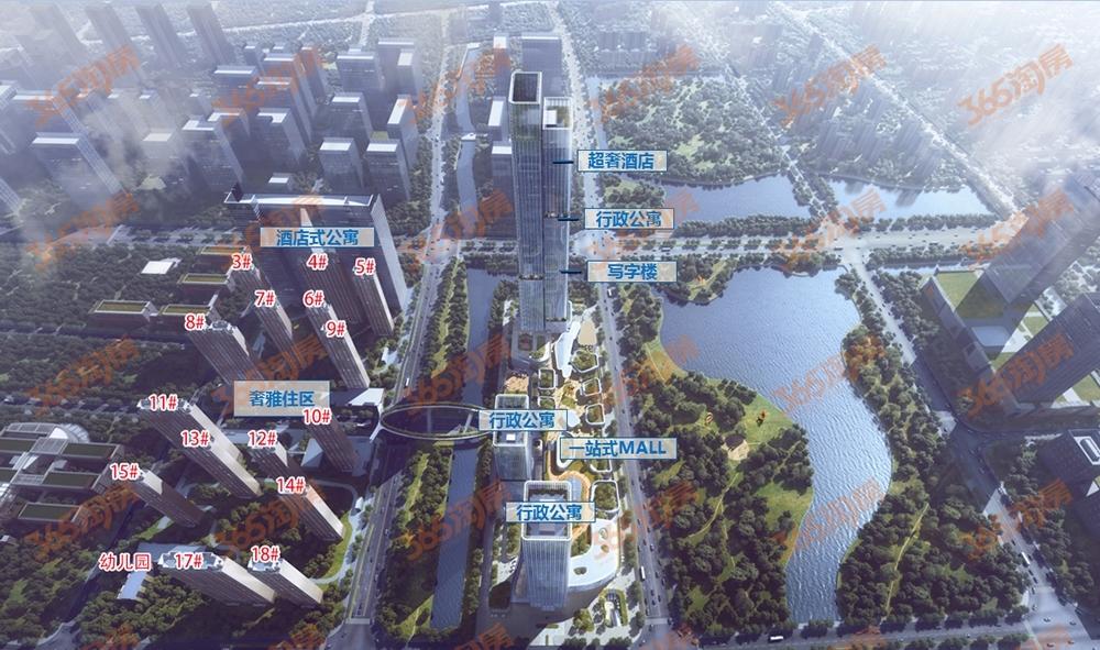 杭州富力中心鸟瞰图