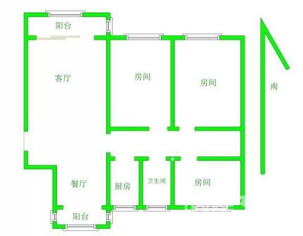 精装三房,南北通透,商品房,沿河,电梯