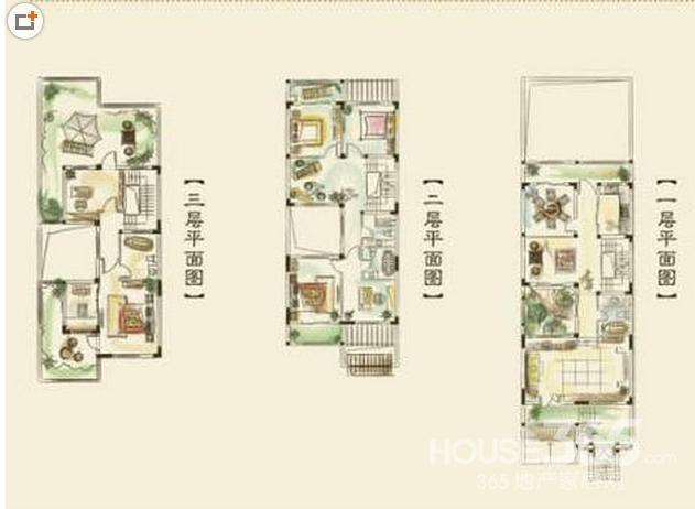 联排别墅4层房